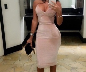 dress, suede, and pink image