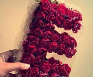 e, حروف, and rose image