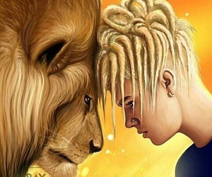 justin bieber, lion, and justinbieber image