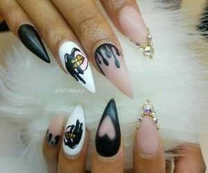 nails, nail art, and fashion image