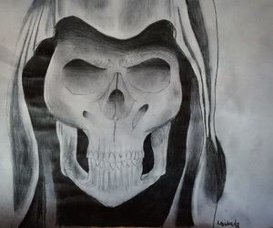 art, skull, and artist image
