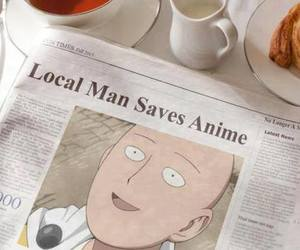 anime, aesthetic, and newspaper image