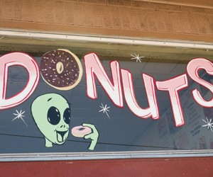 donuts, alien, and grunge image