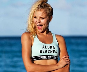 model, pink, and rachel hilbert image
