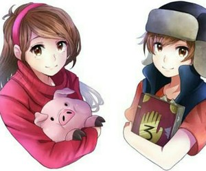 gravity falls, anime, and mabel image