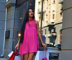 dress, girl, and shopping image