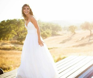 dress, photography, and wedding image