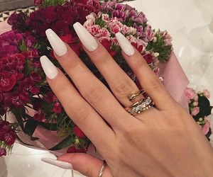 nails, luxury, and flowers image