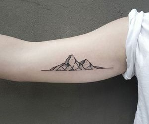 mountain and tattoo image