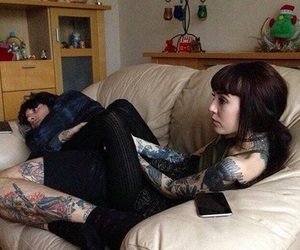 oliver sykes, hannah snowdon, and tattoo image