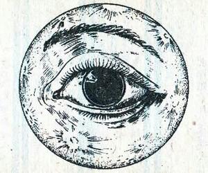 moon, draw, and eye image