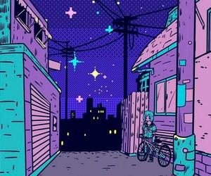 wallpaper, purple, and night image