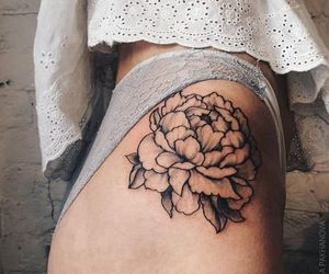 lace, beautiful, and flower image