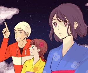 anime, girl, and your name image