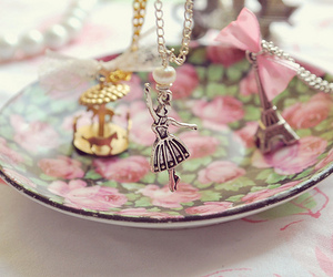paris, pink, and necklace image
