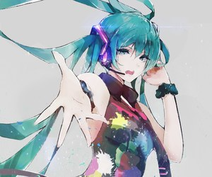 anime, hatsune miku, and anime girl image