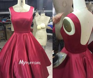 burgundy, cocktail dress, and open back image