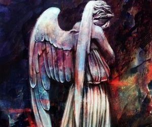 aesthetic, weeping angel, and dr who image