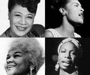 billie holiday, ella fitzgerald, and music image