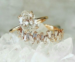 bride, diamonds, and wedding ring image