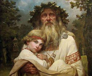 child, myth, and old man image