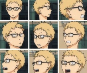 haikyuu, anime, and kei tsukishima image