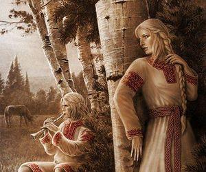 birch, medieval, and slavic image