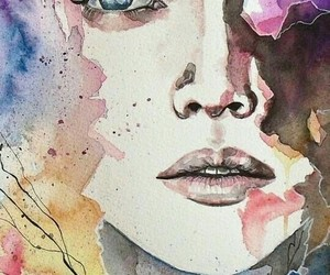 art, watercolor, and drawing image