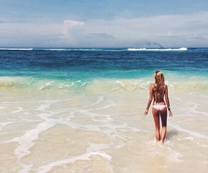 beach, summer, and bright image
