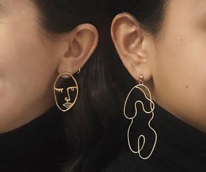 earrings, art, and aesthetic image