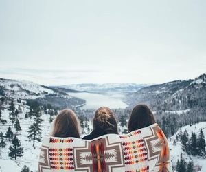 friends, girl, and winter image