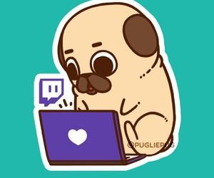pug, art, and cute image