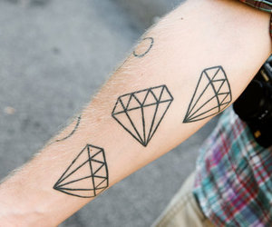 diamond, tattoo, and arm image