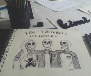 bands, drawing, and poppunk image