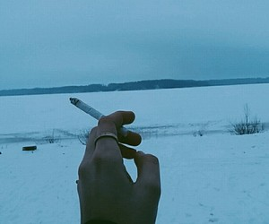 beautiful, cigarette, and cold image
