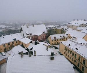 estonia, snow, and tallinn image