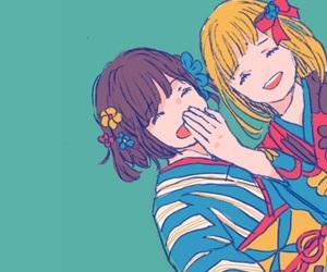 illustration, japan, and kimono image