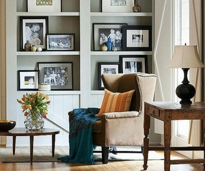 home decor, living room, and wingback chair image