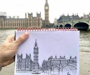 london, art, and drawing image