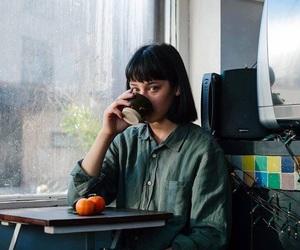 girl, coffee, and tea image