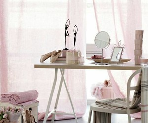 home decor, pink and gray, and pink decor image