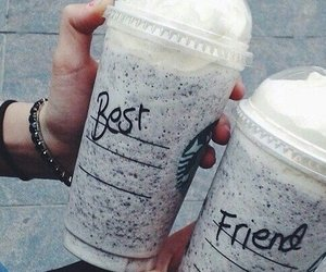 starbucks, best friends, and friends image