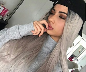 beauty, colored hair, and girl image