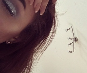 brunette, hair, and lashes image