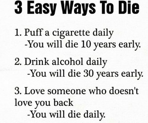 cigarette, daily, and die image