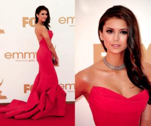 dress, Nina Dobrev, and red image
