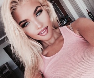 girl, makeup, and blonde image