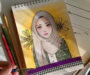 art and hijab image