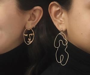 earrings, art, and aesthetic image
