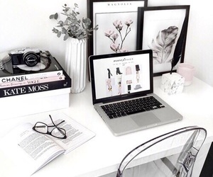 home, white, and book image